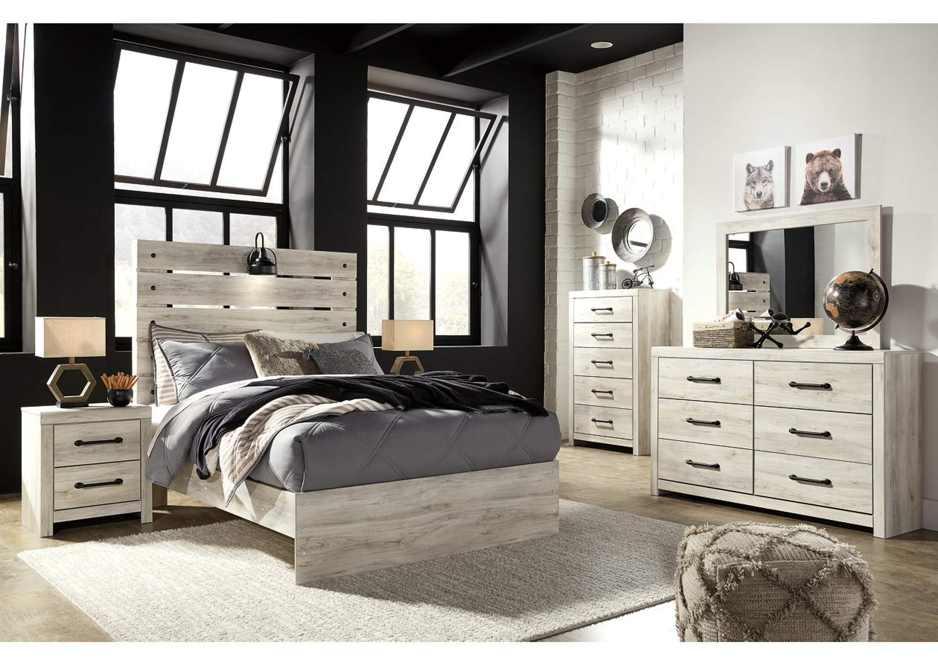 Cambeck Full Panel Bed w/Dresser and Mirror,Signature Design By Ashley