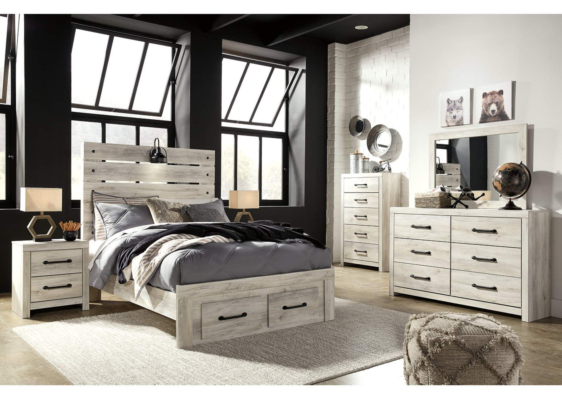 Cambeck Full Storage Bed w/Dresser & Mirror,Signature Design By Ashley