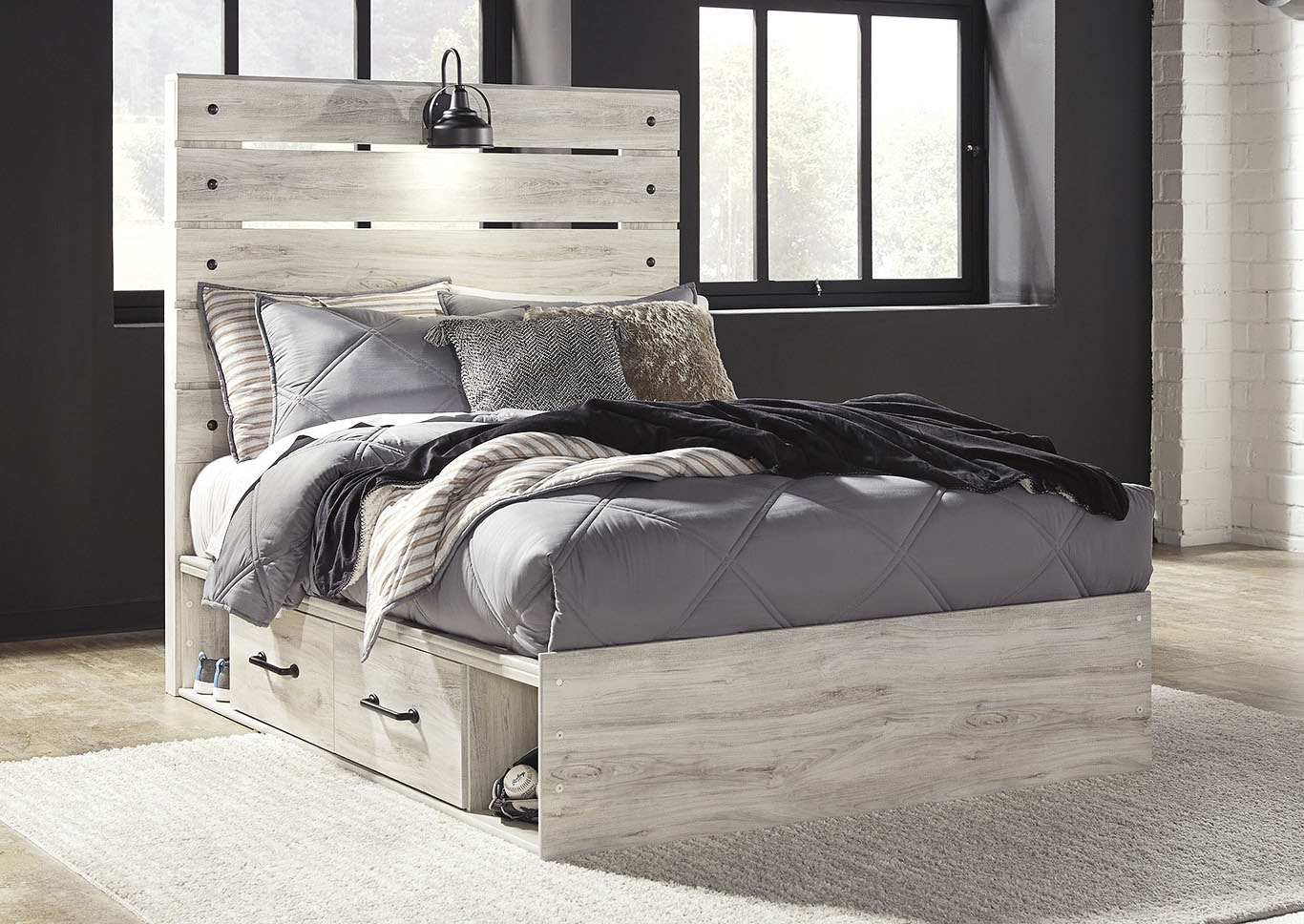 Cambeck Full Panel Bed with 4 Side Storage Drawers,Signature Design By Ashley