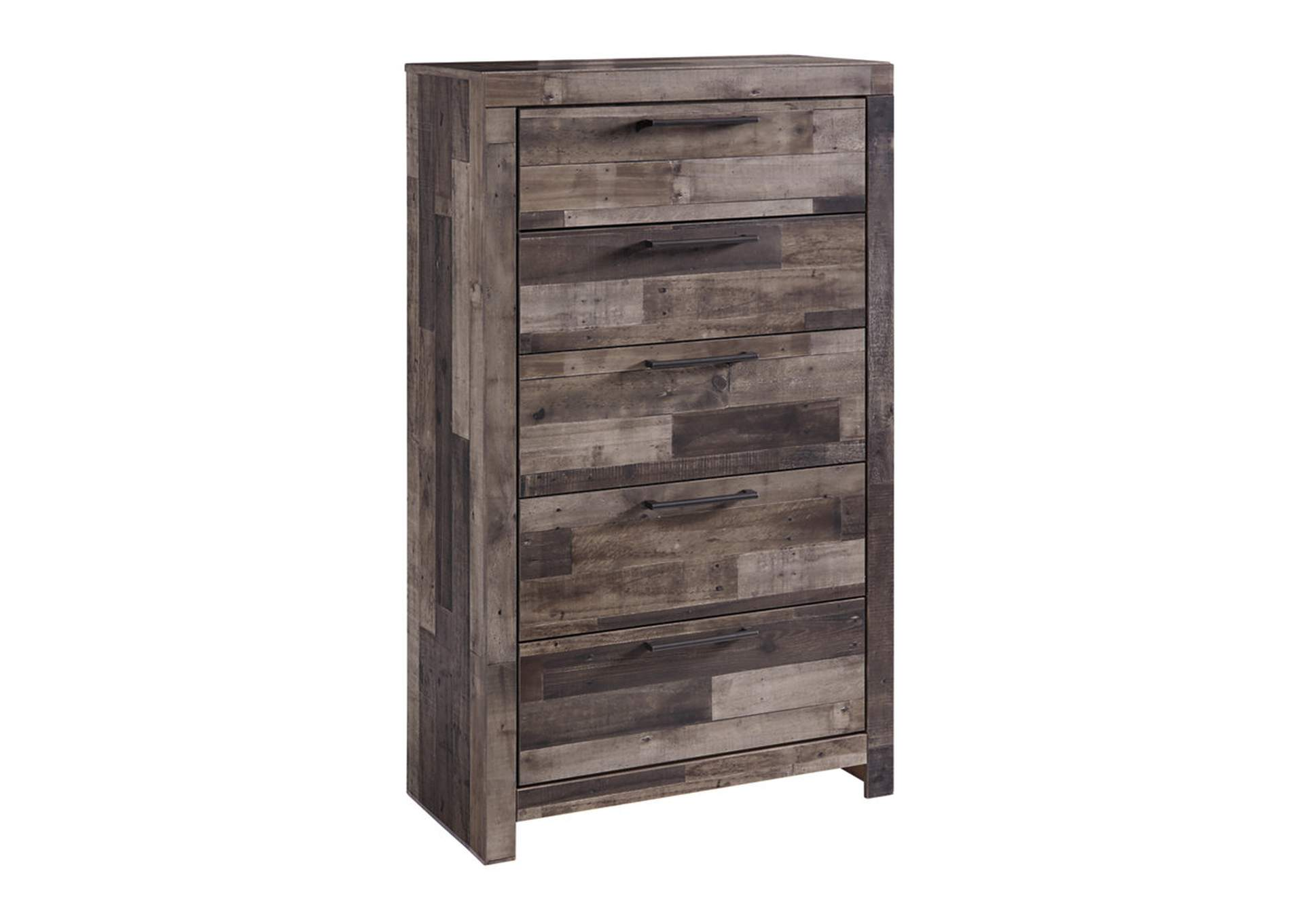 Derekson Multi Gray Five Drawer Chest,Signature Design By Ashley