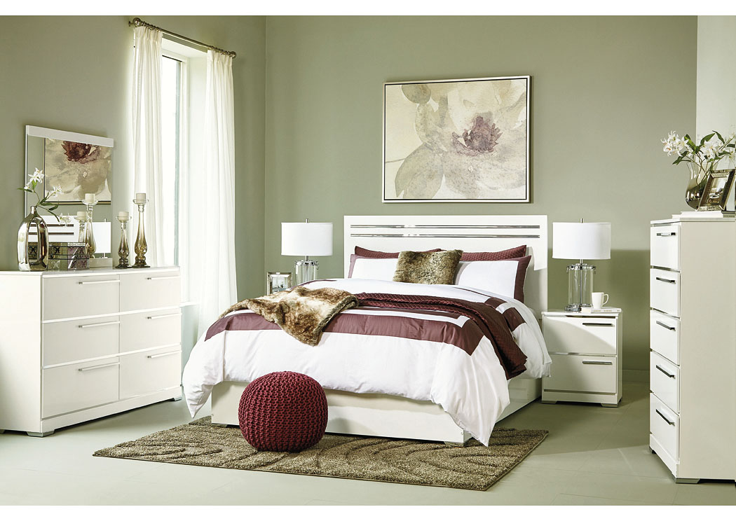 Brillaney White Queen Panel Bed w/Dresser & Mirror,Signature Design By Ashley