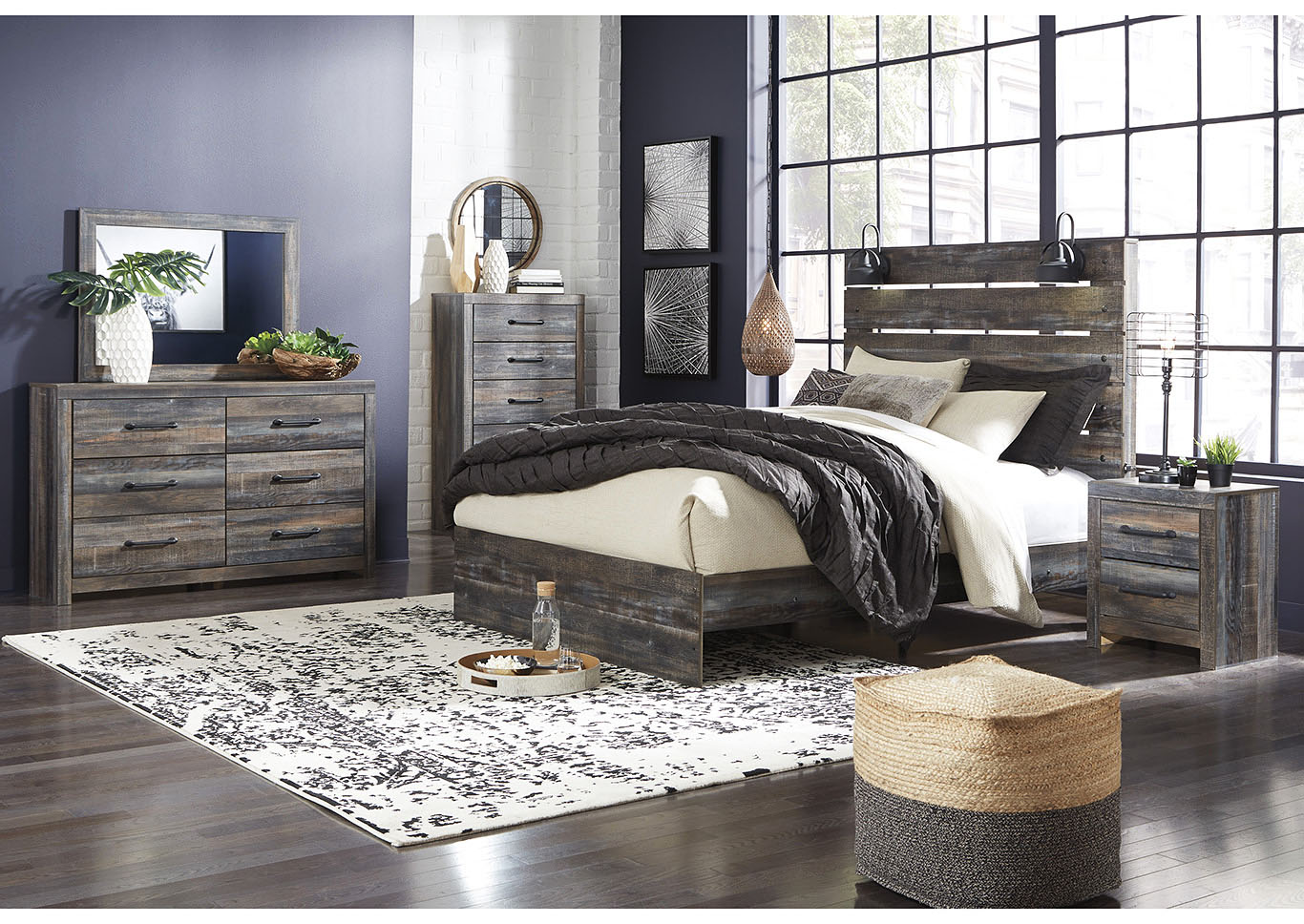 Drystan Queen Panel Bed w/Dresser & Mirror,Signature Design By Ashley