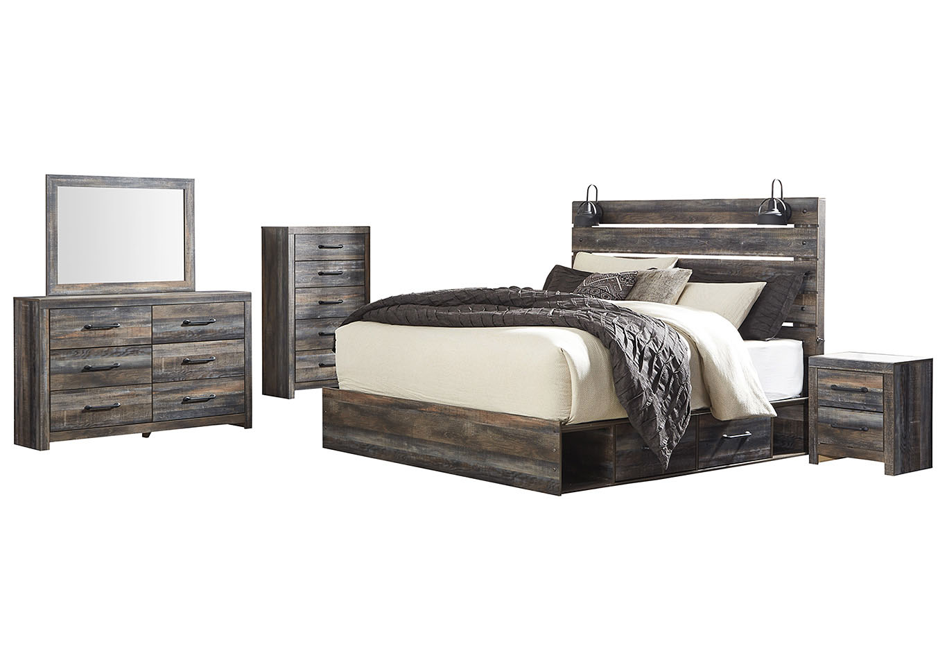 Drystan King Storage Bed w/Dresser & Mirror,Signature Design By Ashley