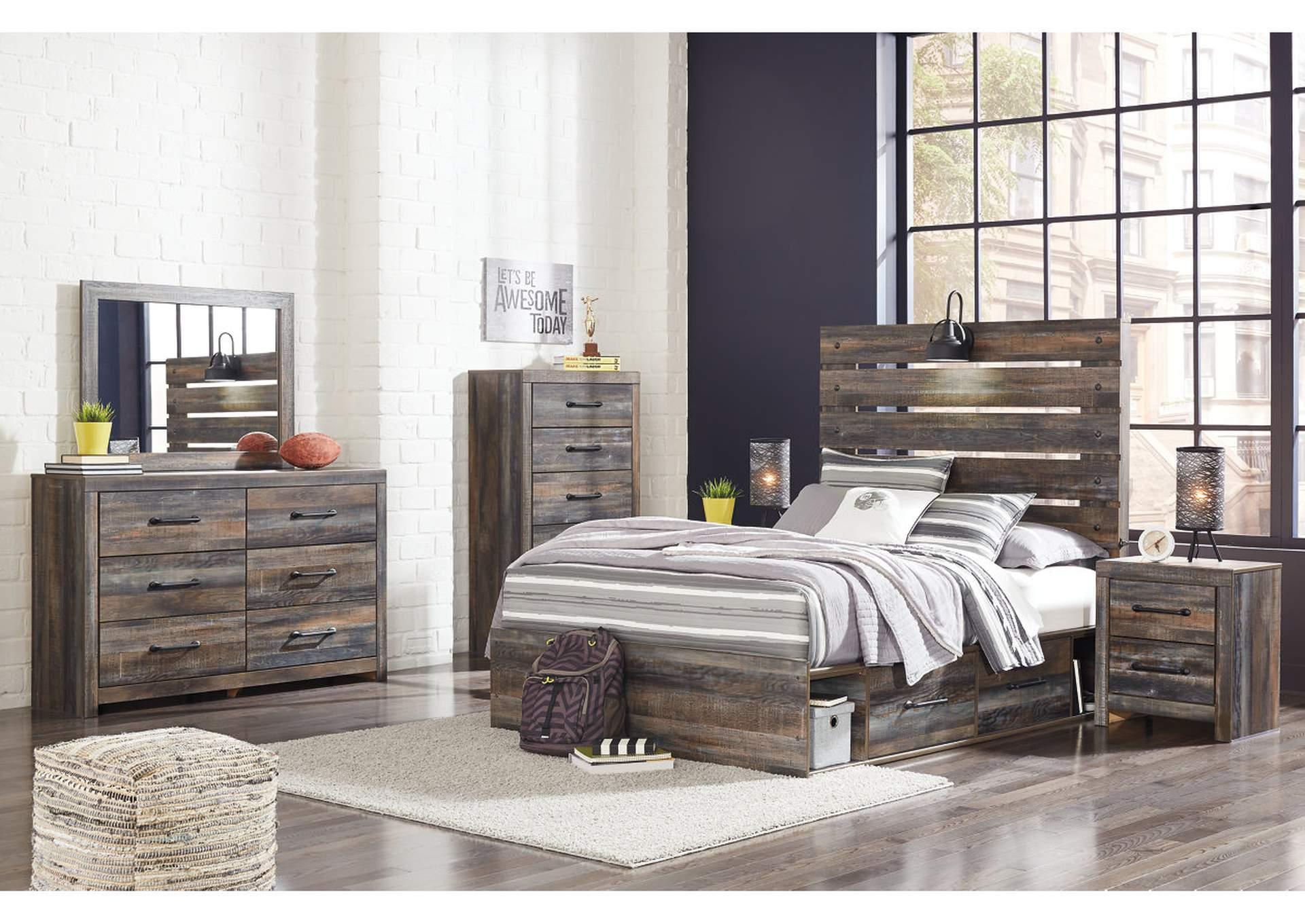 Drystan Full Storage Bed w/Dresser & Mirror,Signature Design By Ashley
