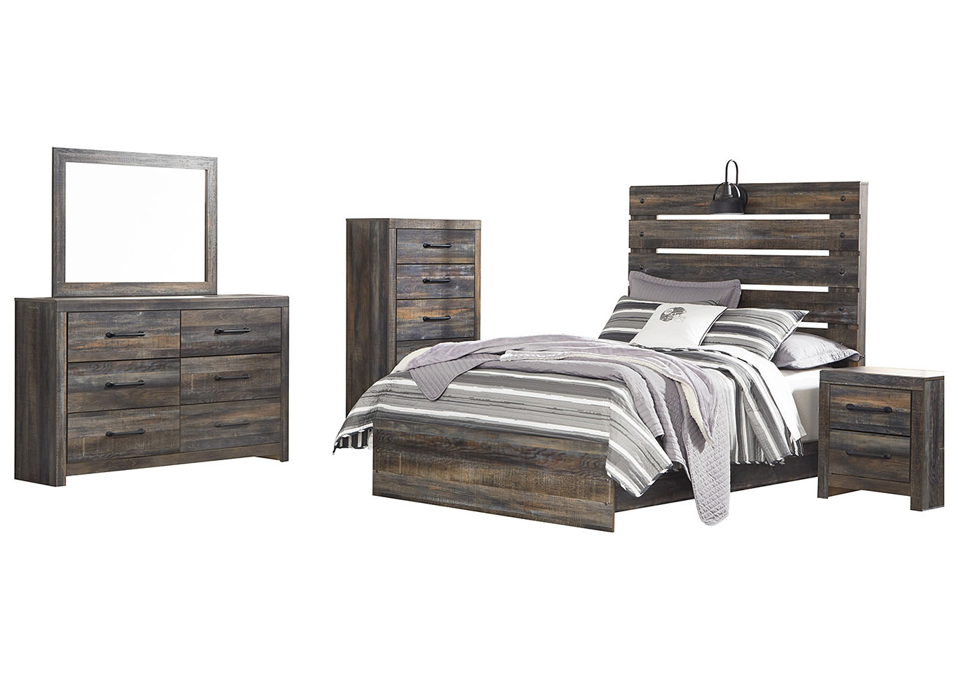 Drystan Full Panel Bed w/Dresser & Mirror,Signature Design By Ashley