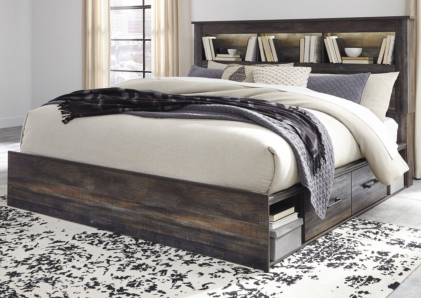 Drystan Bookcase King Side Storage Bed,Signature Design By Ashley