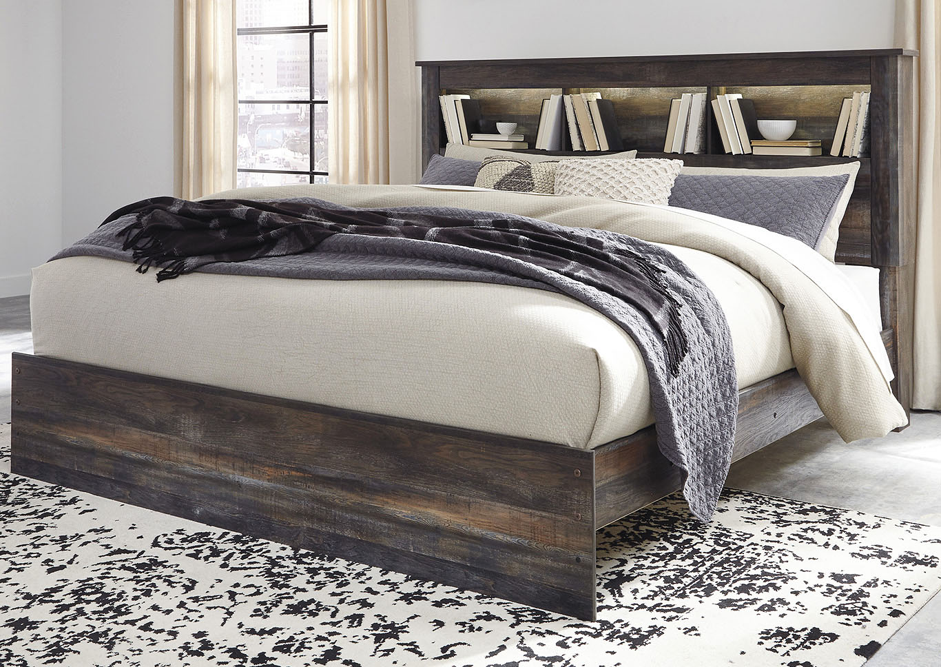 Drystan Bookcase King Bed,Signature Design By Ashley