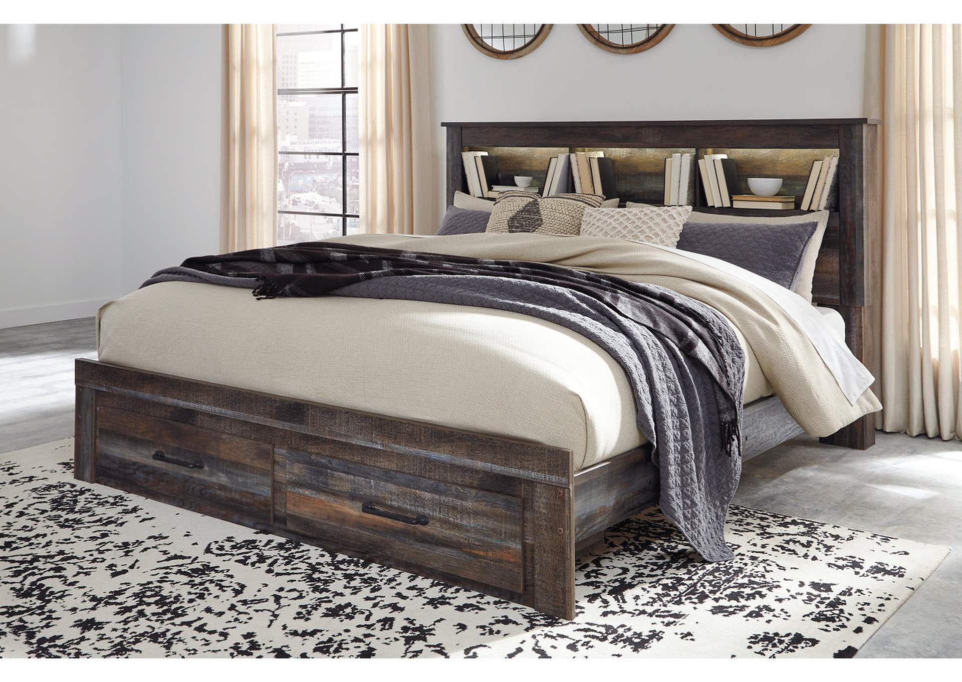 Drystan Bookcase King Storage Bed,Signature Design By Ashley