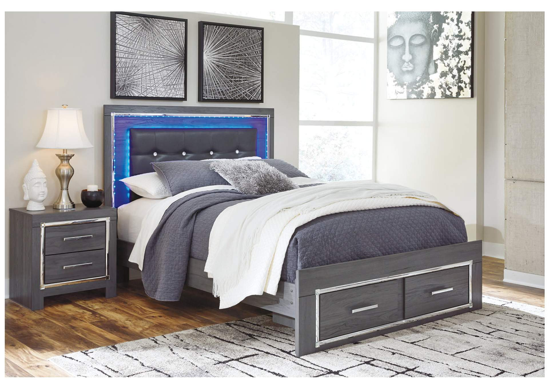 Lodanna Gray Queen Storage Bed,Signature Design By Ashley