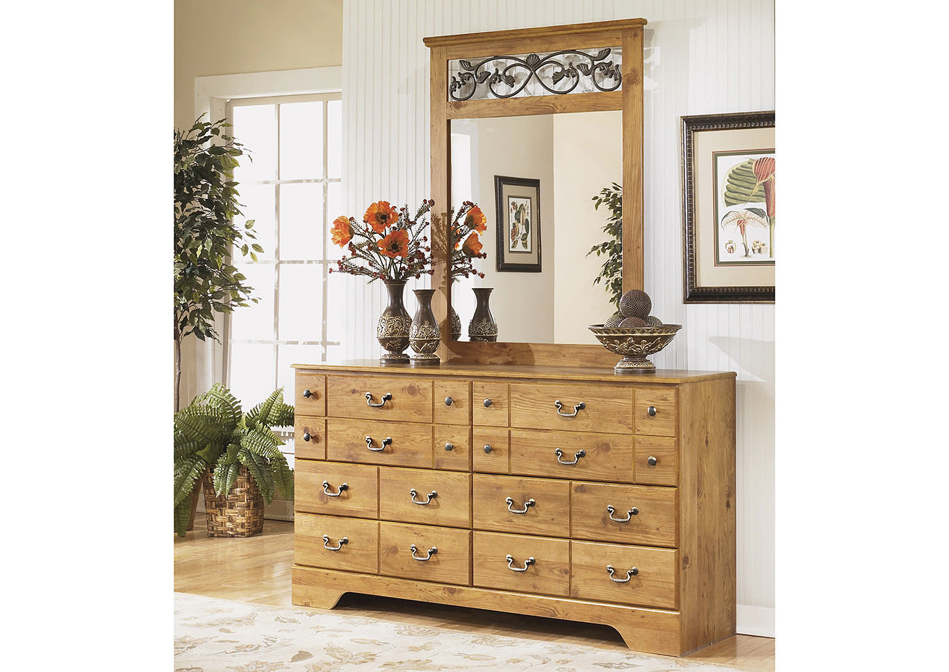 Bittersweet Light Brown Dresser w/Mirror,Signature Design By Ashley