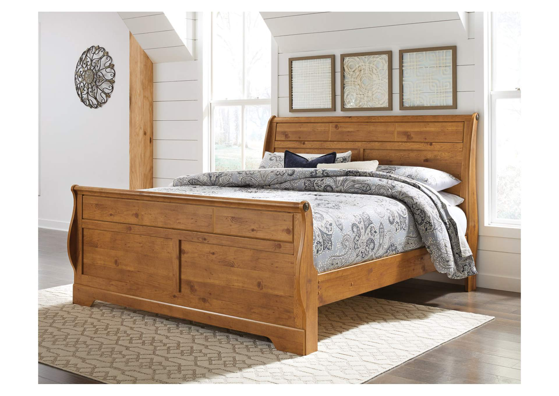Bittersweet Light Brown King Sleigh Bed,Signature Design By Ashley