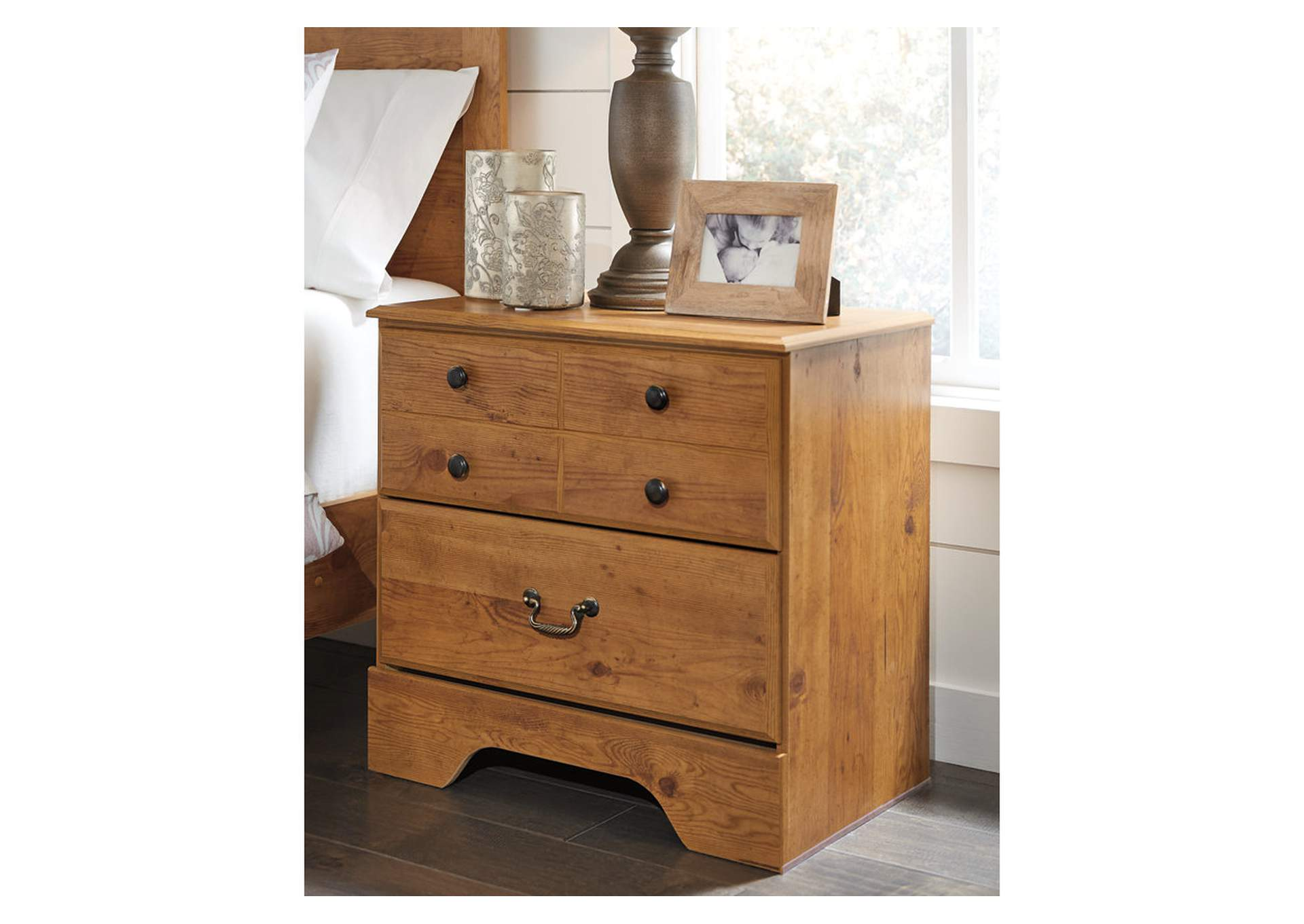 Bittersweet Light Brown Night Stand,Signature Design By Ashley
