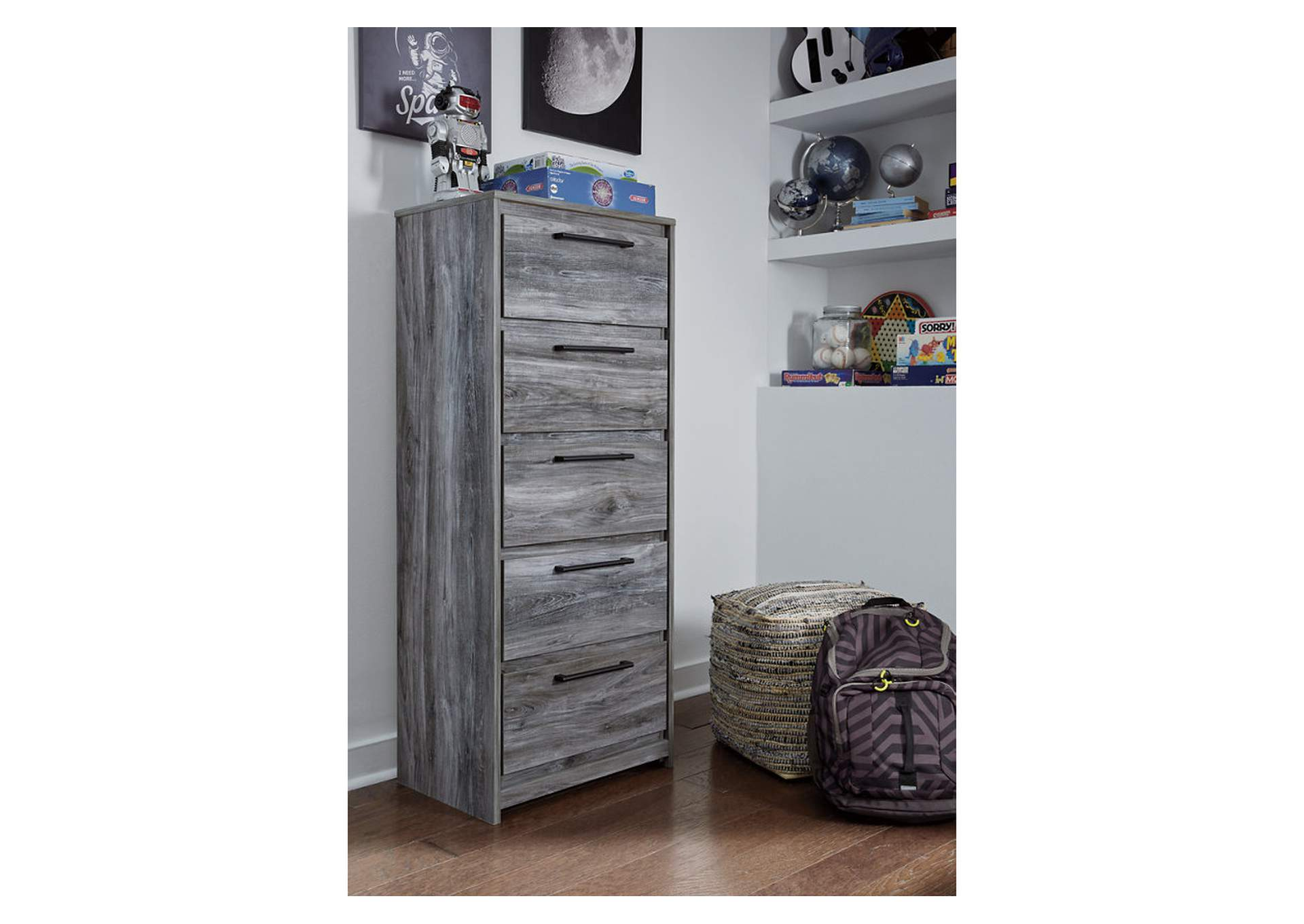 Baystorm Gray Narrow Chest,Signature Design By Ashley