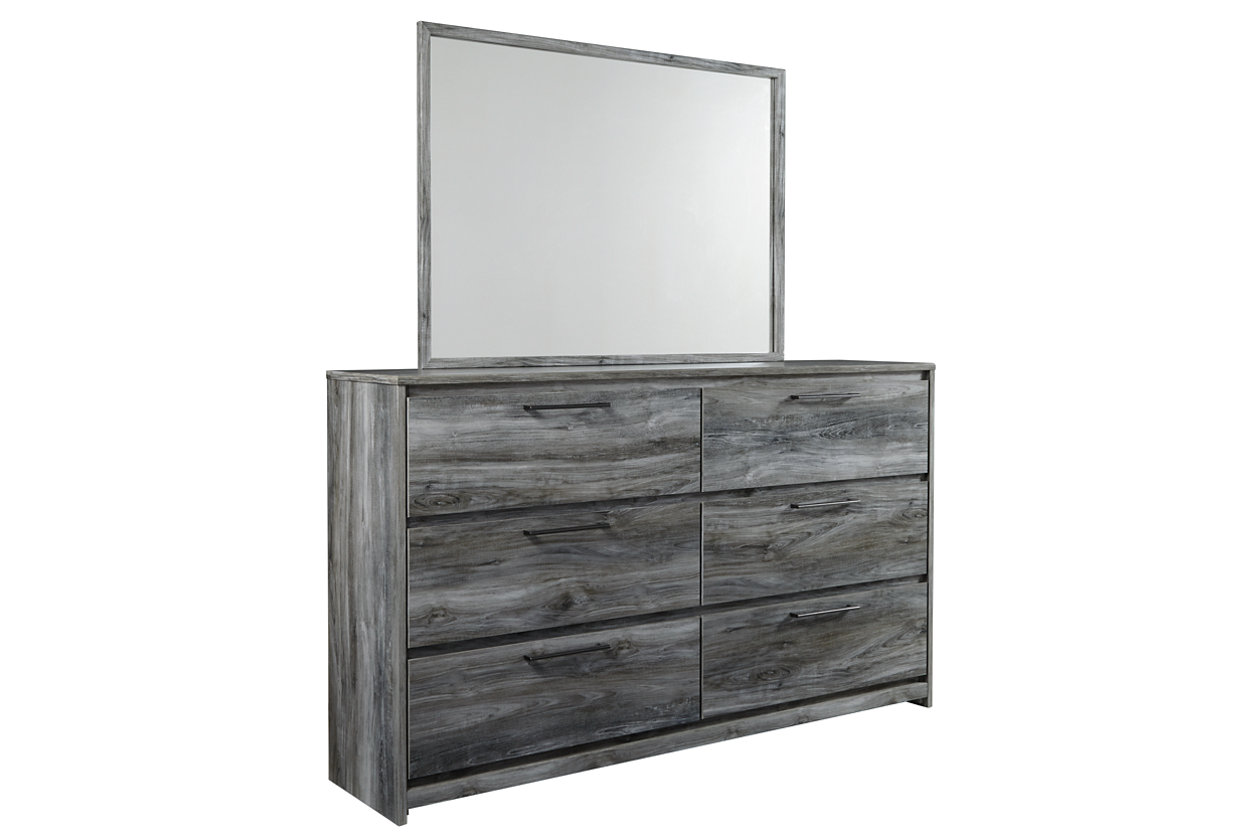 Baystorm Gray Dresser w/Mirror,Signature Design By Ashley