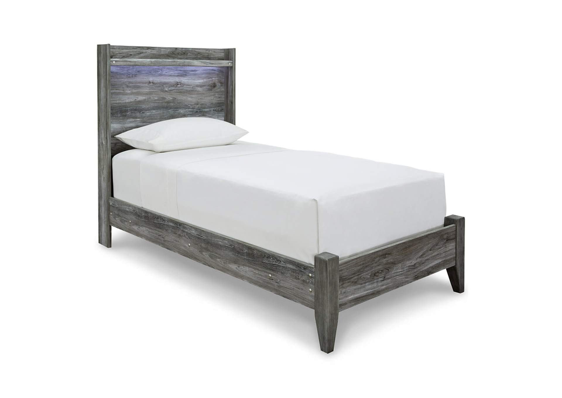 Baystorm Gray Twin Panel Bed,Signature Design By Ashley