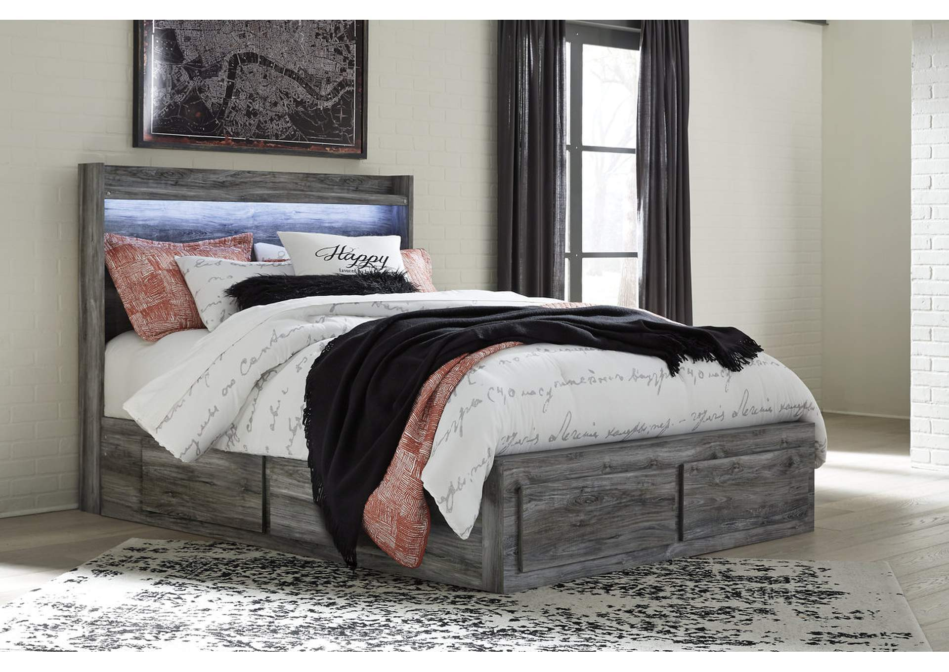 Baystorm Gray Queen Storage Bed,Signature Design By Ashley