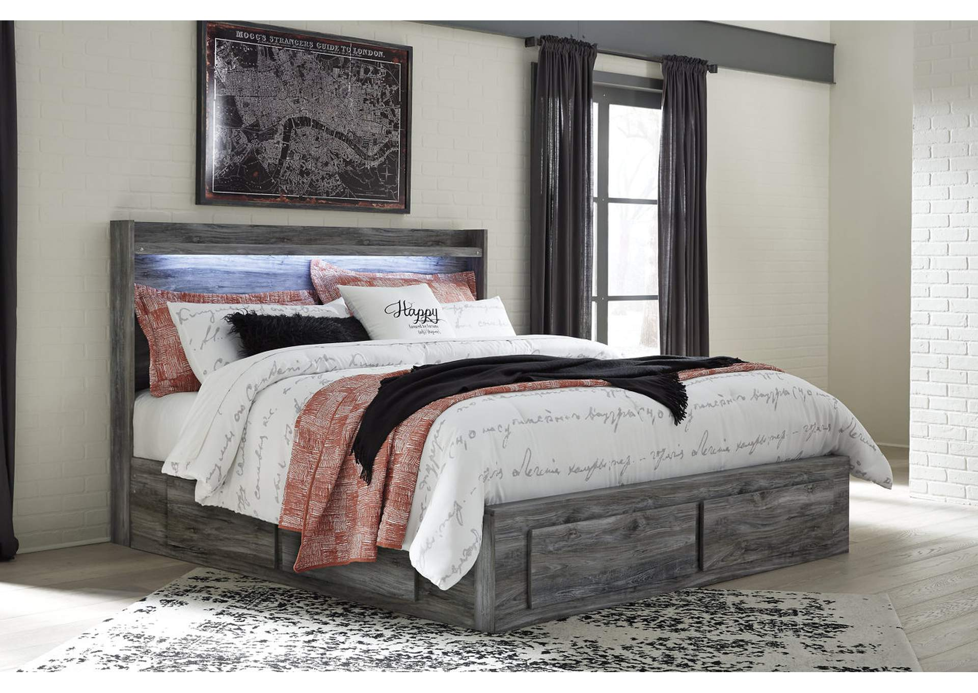 Baystorm Gray King Storage Bed,Signature Design By Ashley