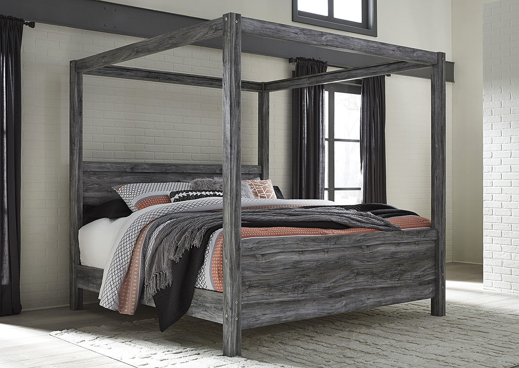 Baystorm Gray King Canopy  Bed,Signature Design By Ashley