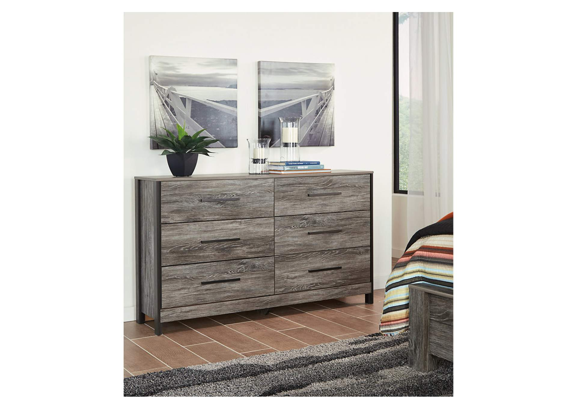 Cazenfeld Black/Gray Dresser,Signature Design By Ashley