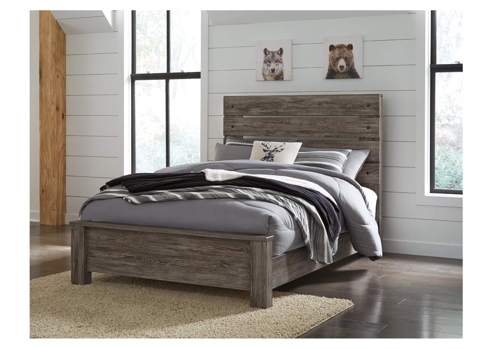 Cazenfeld Black/Gray Full Panel Bed,Signature Design By Ashley