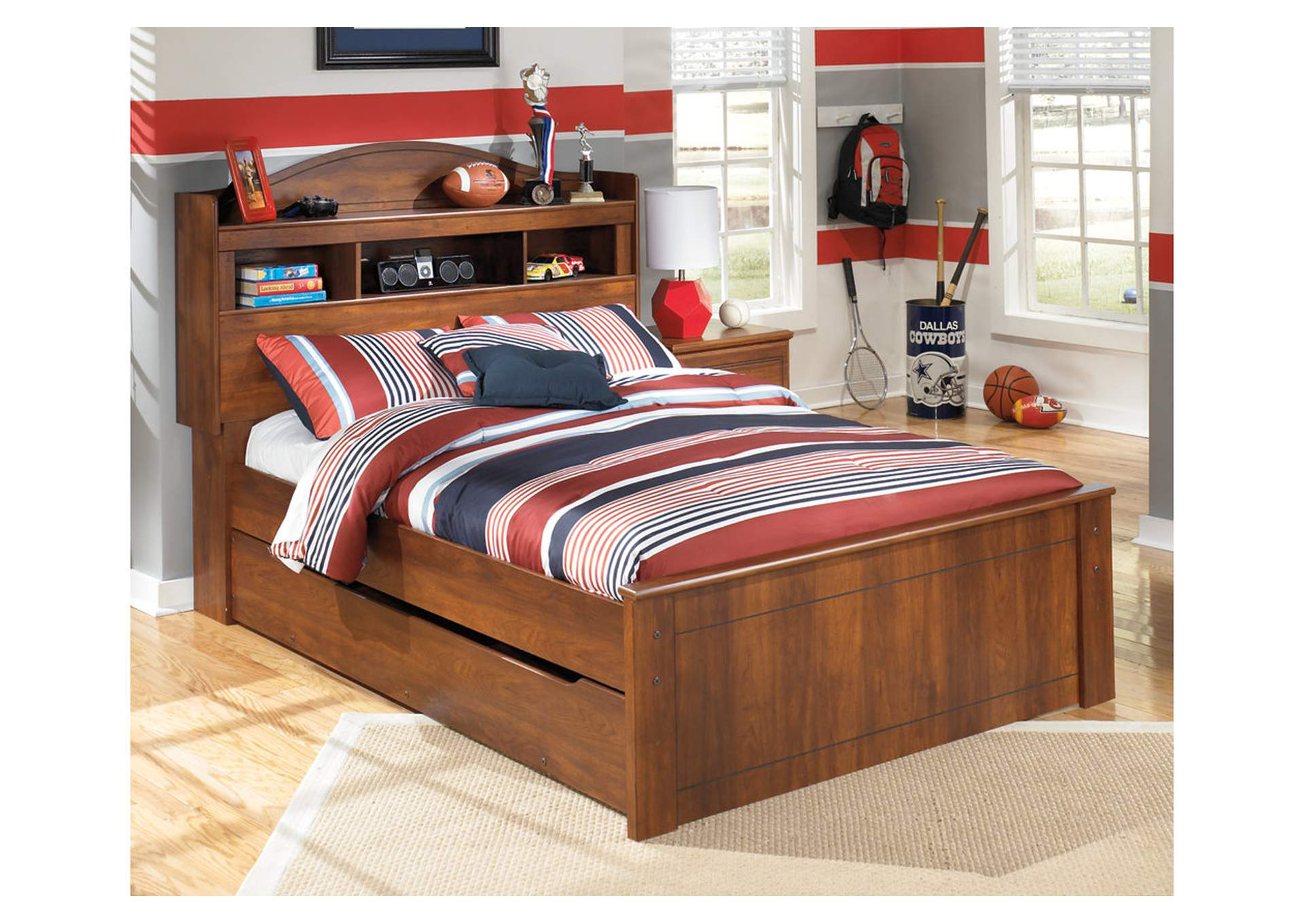 Barchan Full Bookcase Bed w/Trundle,Signature Design By Ashley