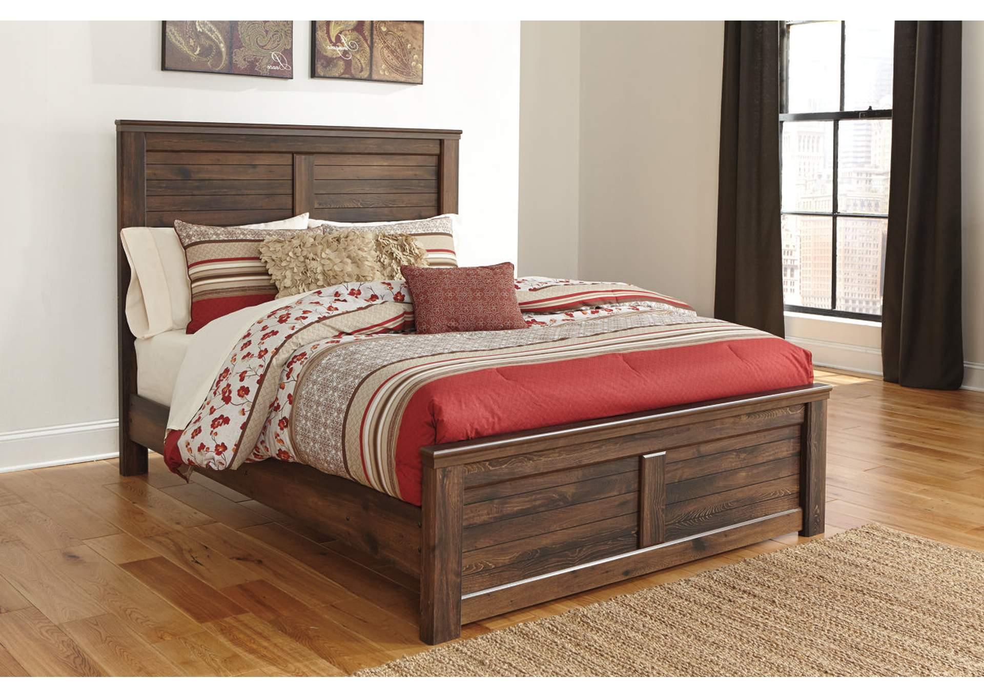 Quinden King Panel Bed,Signature Design By Ashley