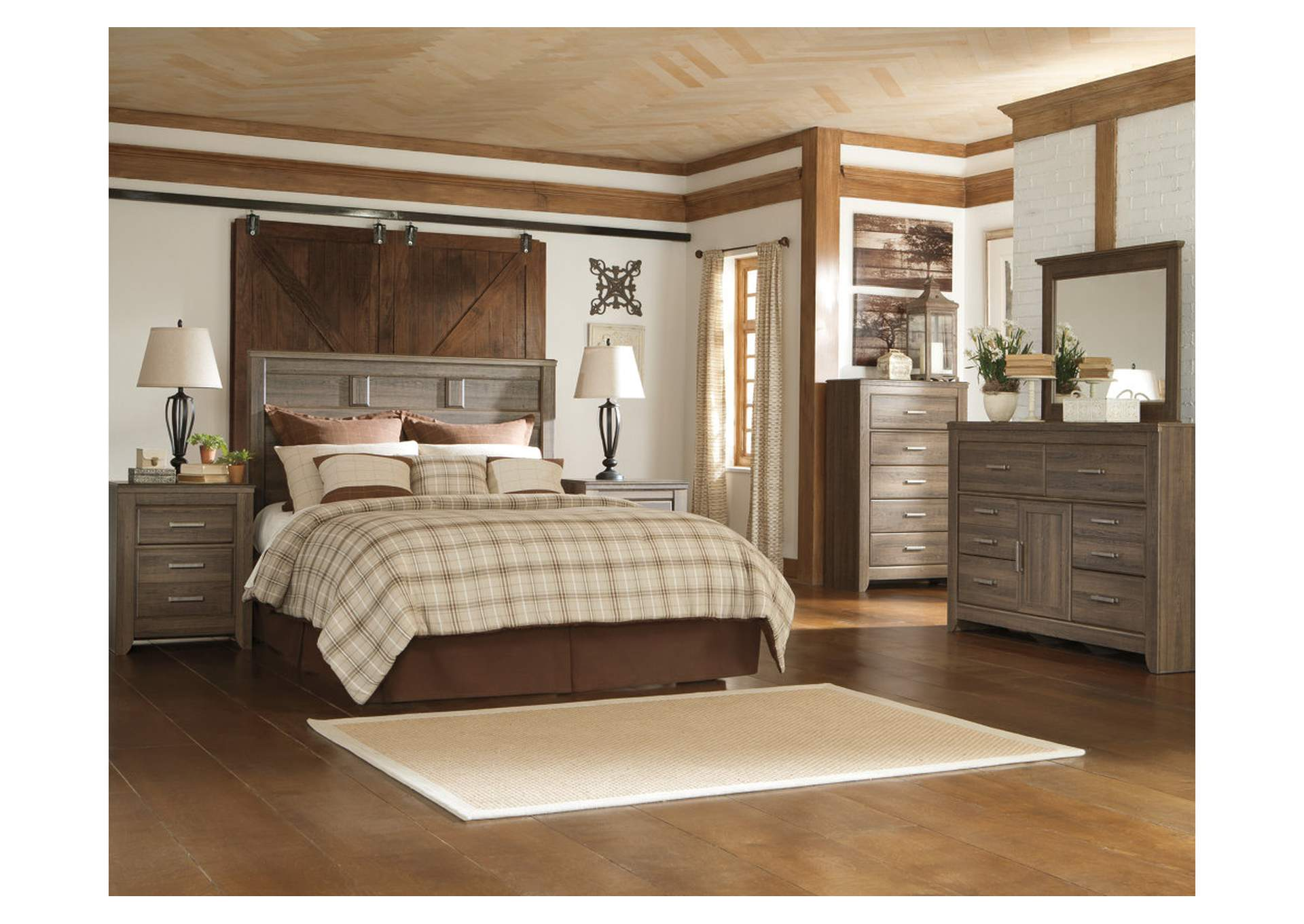 Juararo King/California King Panel Headboard w/Dresser & Mirror,Signature Design By Ashley