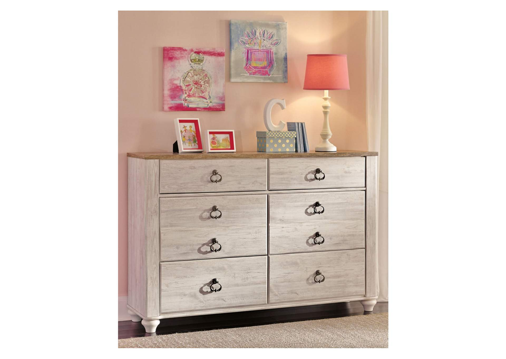 Willowton White Dresser,Signature Design By Ashley