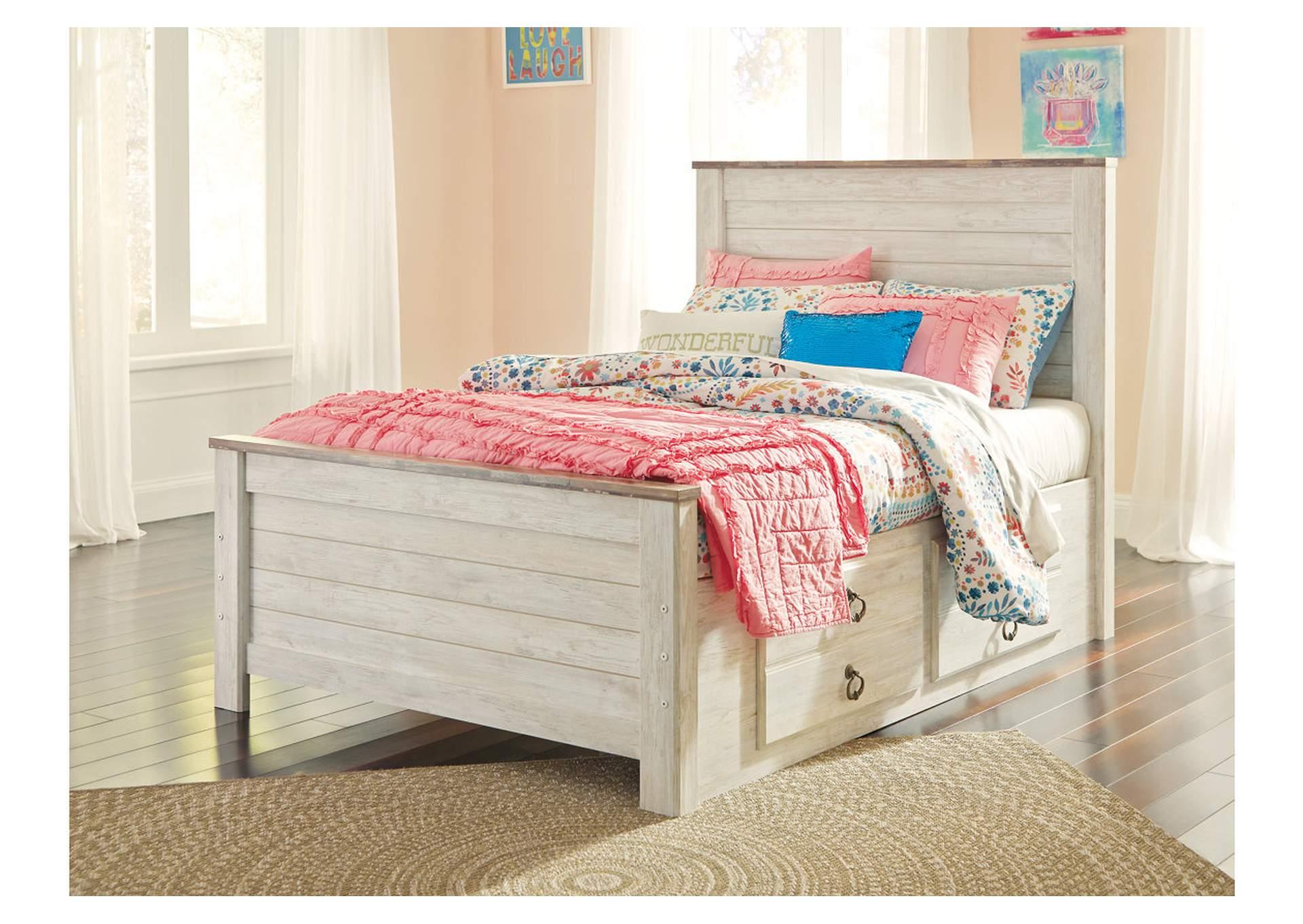 Willowton Whitewash Full Storage Bed Ivan Smith