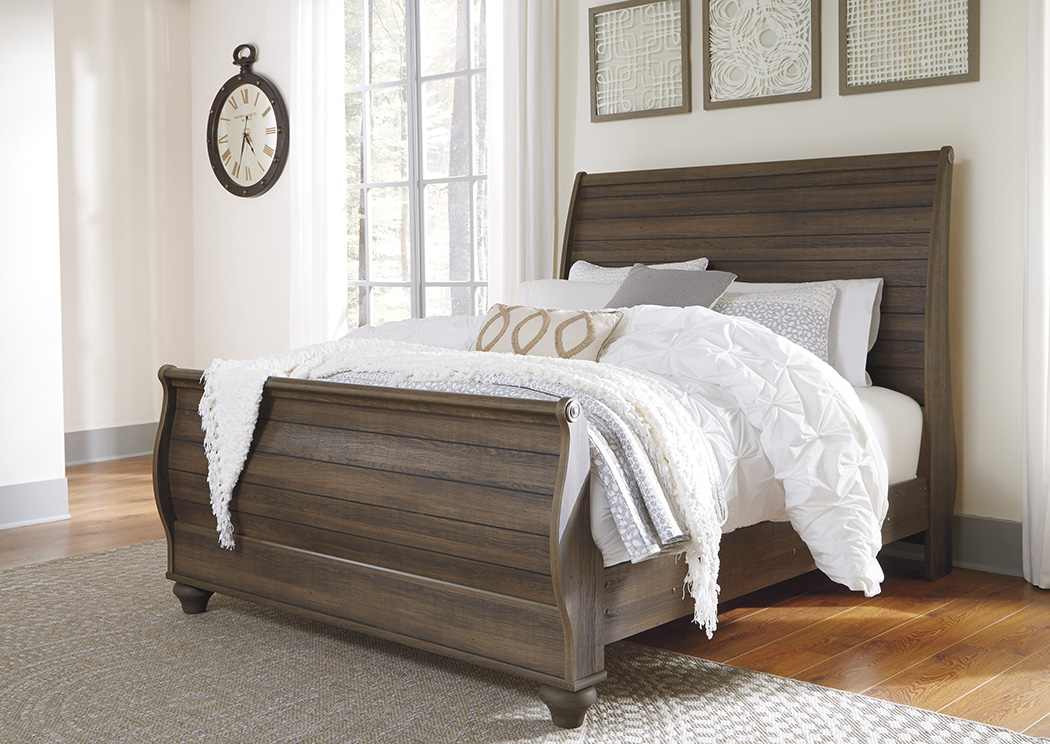 Birmington Brown Queen Sleigh Bed,Signature Design By Ashley
