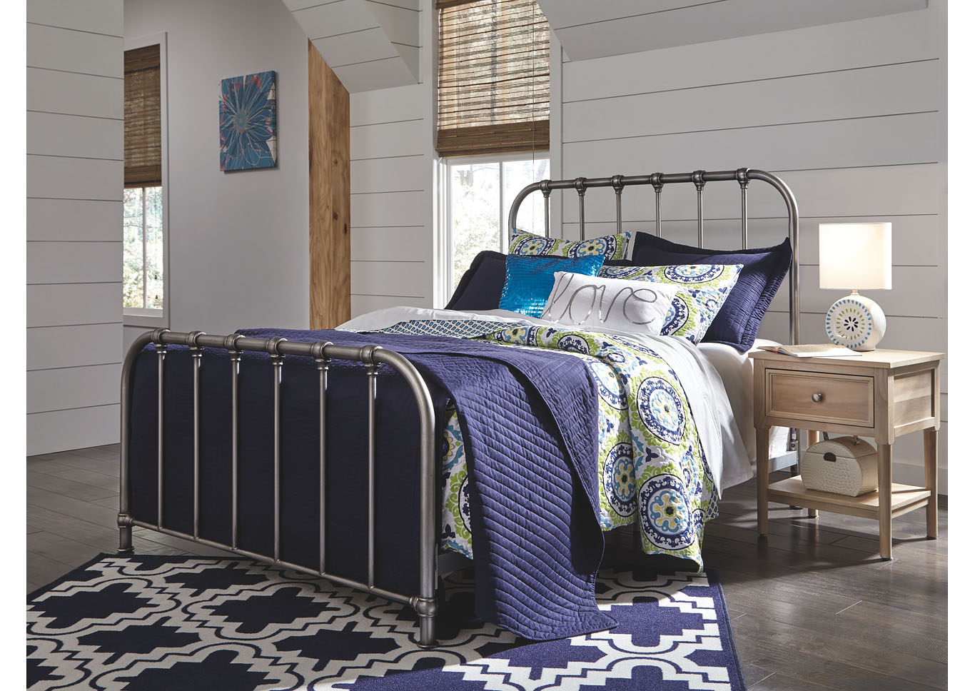 Nashburg Multi Queen Metal Bed,Signature Design By Ashley