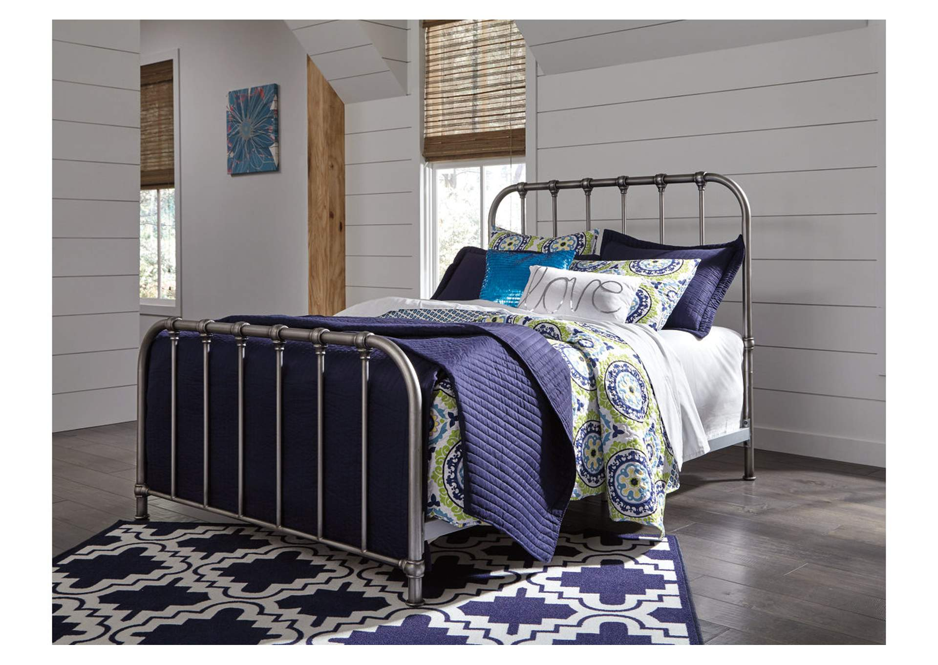 Alabama Furniture Market Nashburg Multi Twin Metal Bed