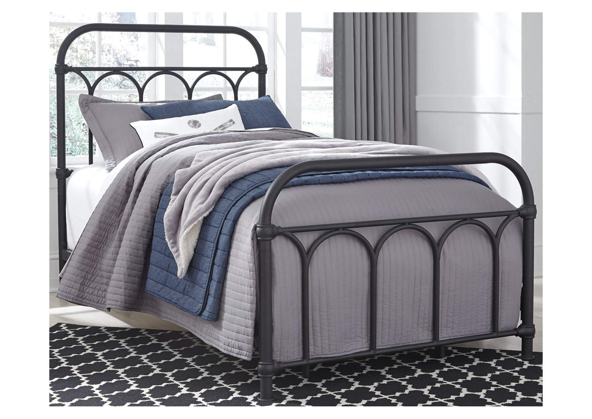 Nashburg Twin Metal Bed,Signature Design By Ashley