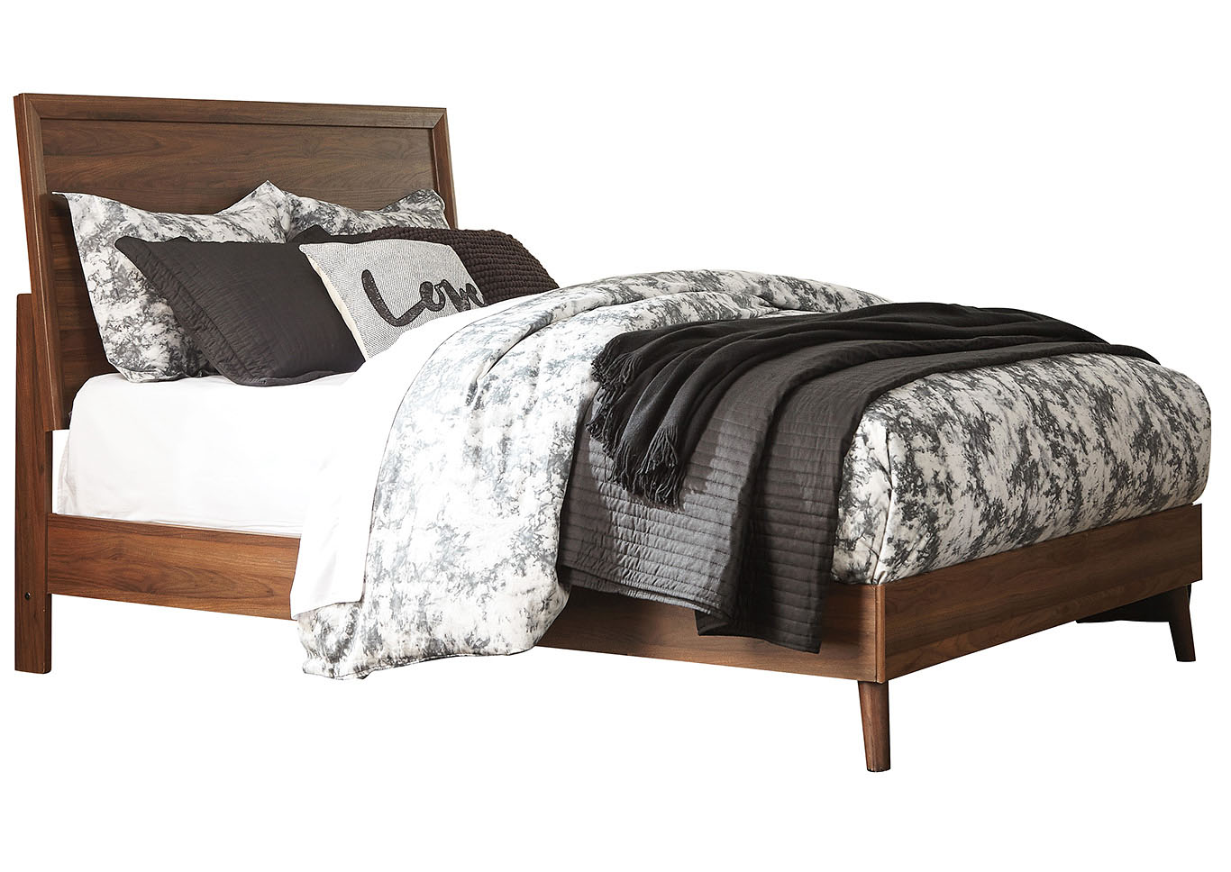 Daneston Brown/Graphite Queen Panel Bed,Signature Design By Ashley