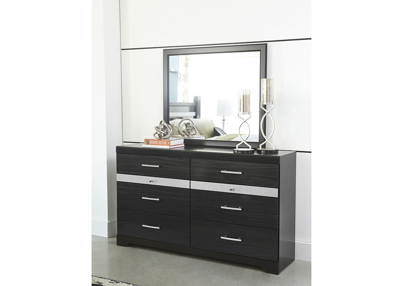 Starberry Black Dresser w/Mirror,Signature Design By Ashley