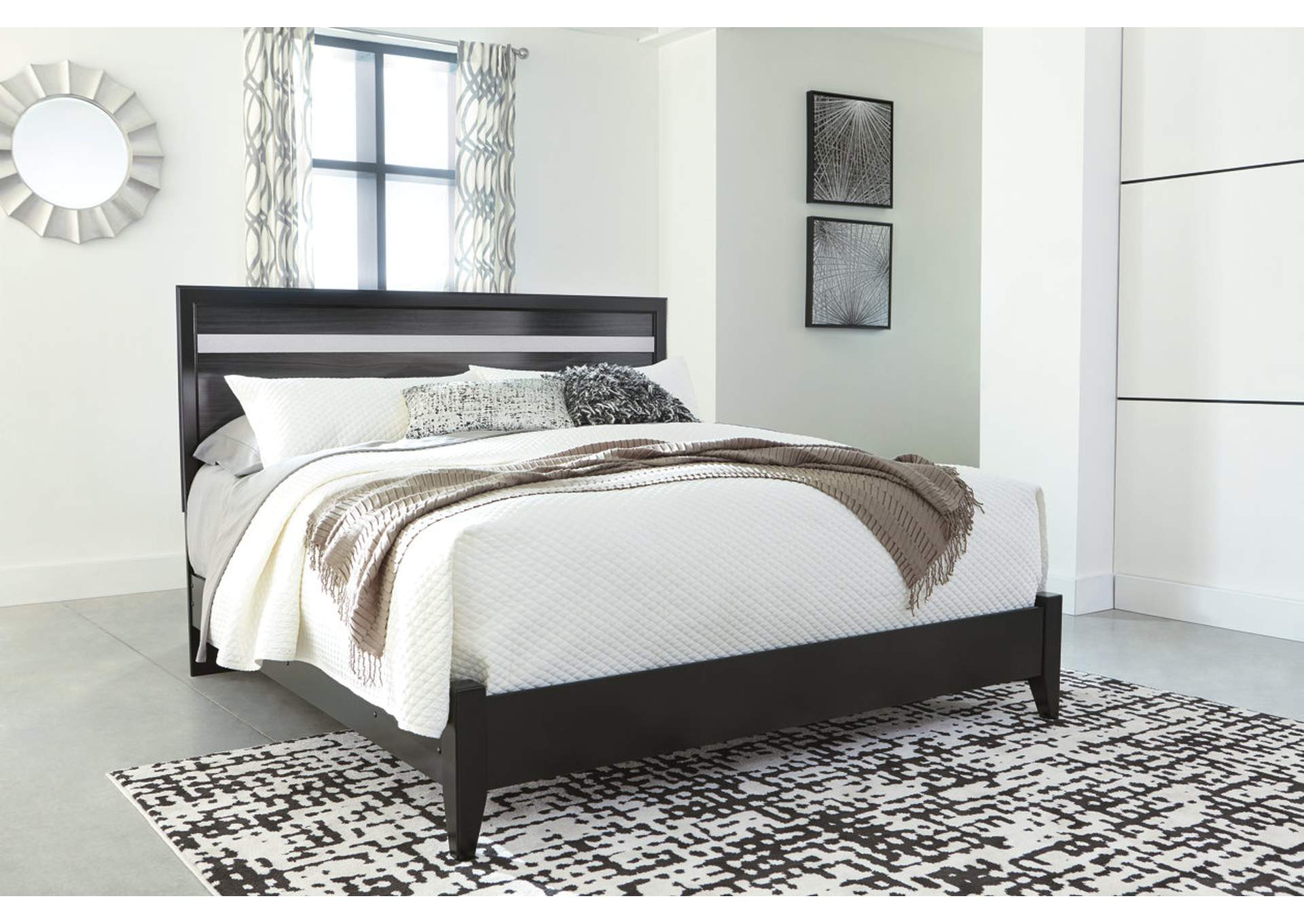 Starberry Black King Panel Bed,Signature Design By Ashley