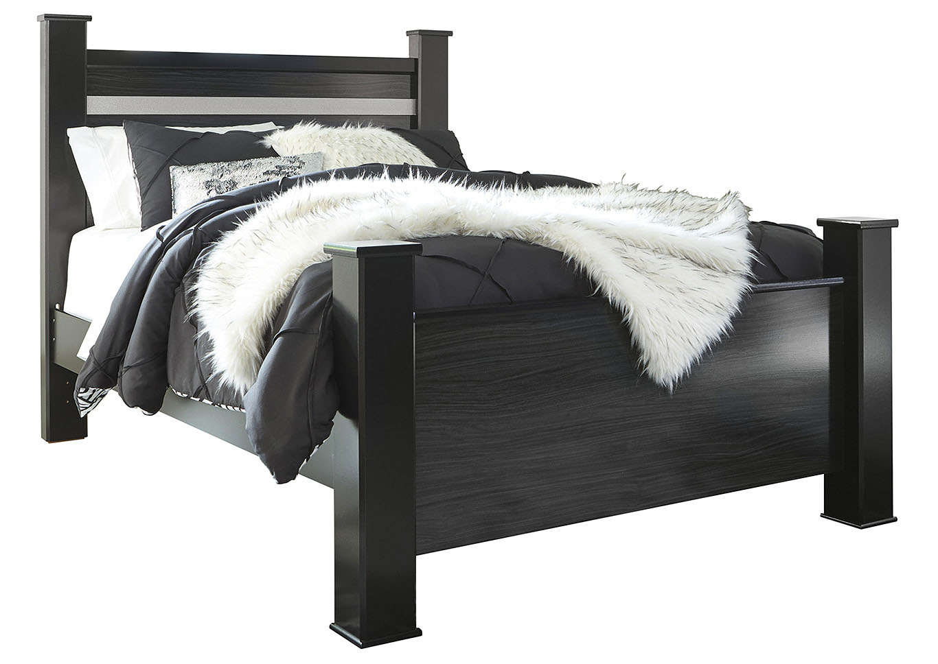 Starberry Black Queen Poster Bed,Signature Design By Ashley