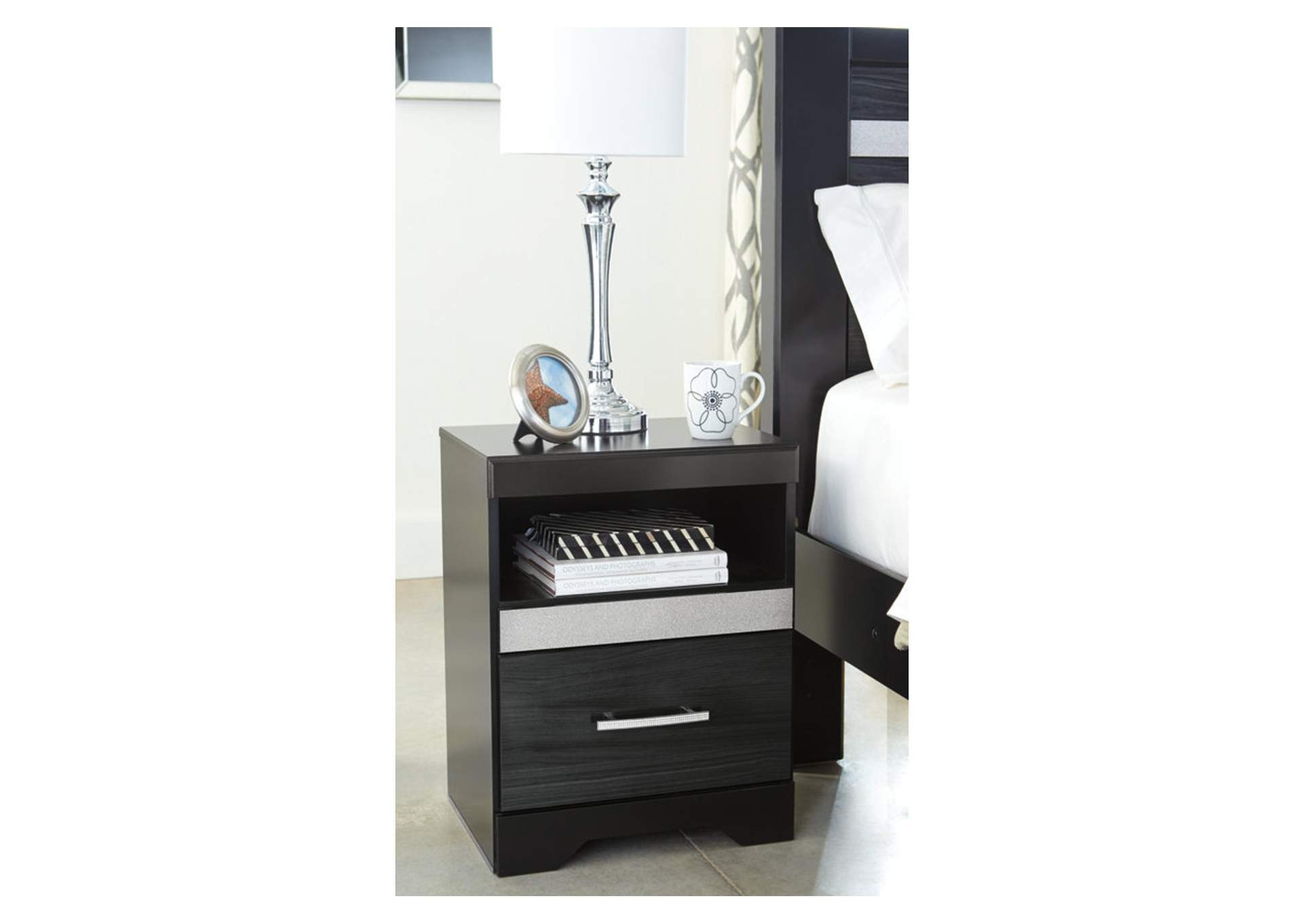 Starberry Black One Drawer Nightstand,Signature Design By Ashley