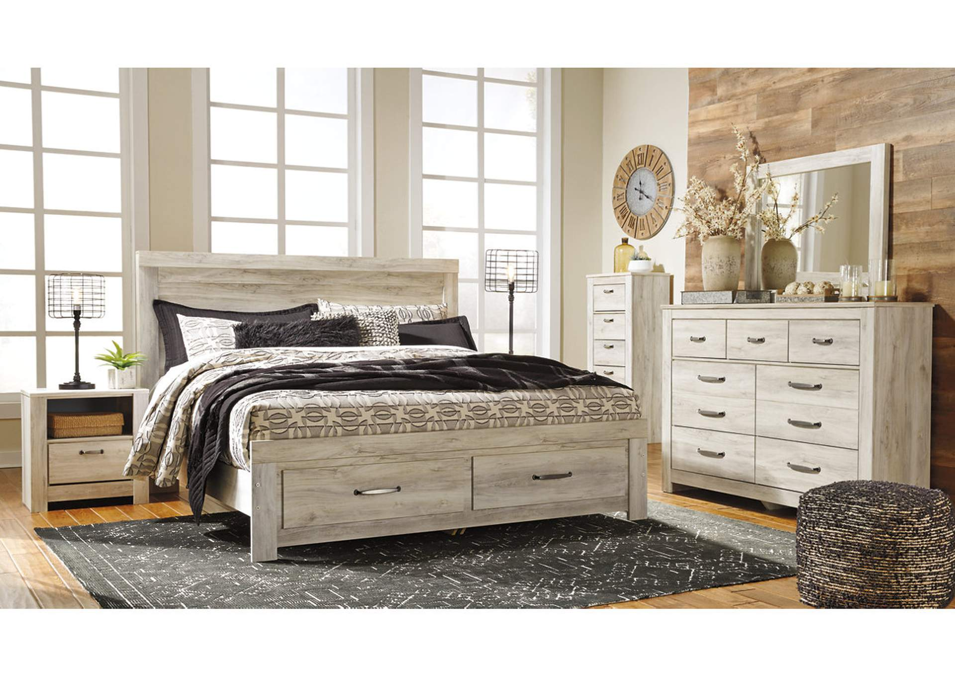Johnson S Furniture Bellaby Whitewash Bedroom Dresser W Mirror