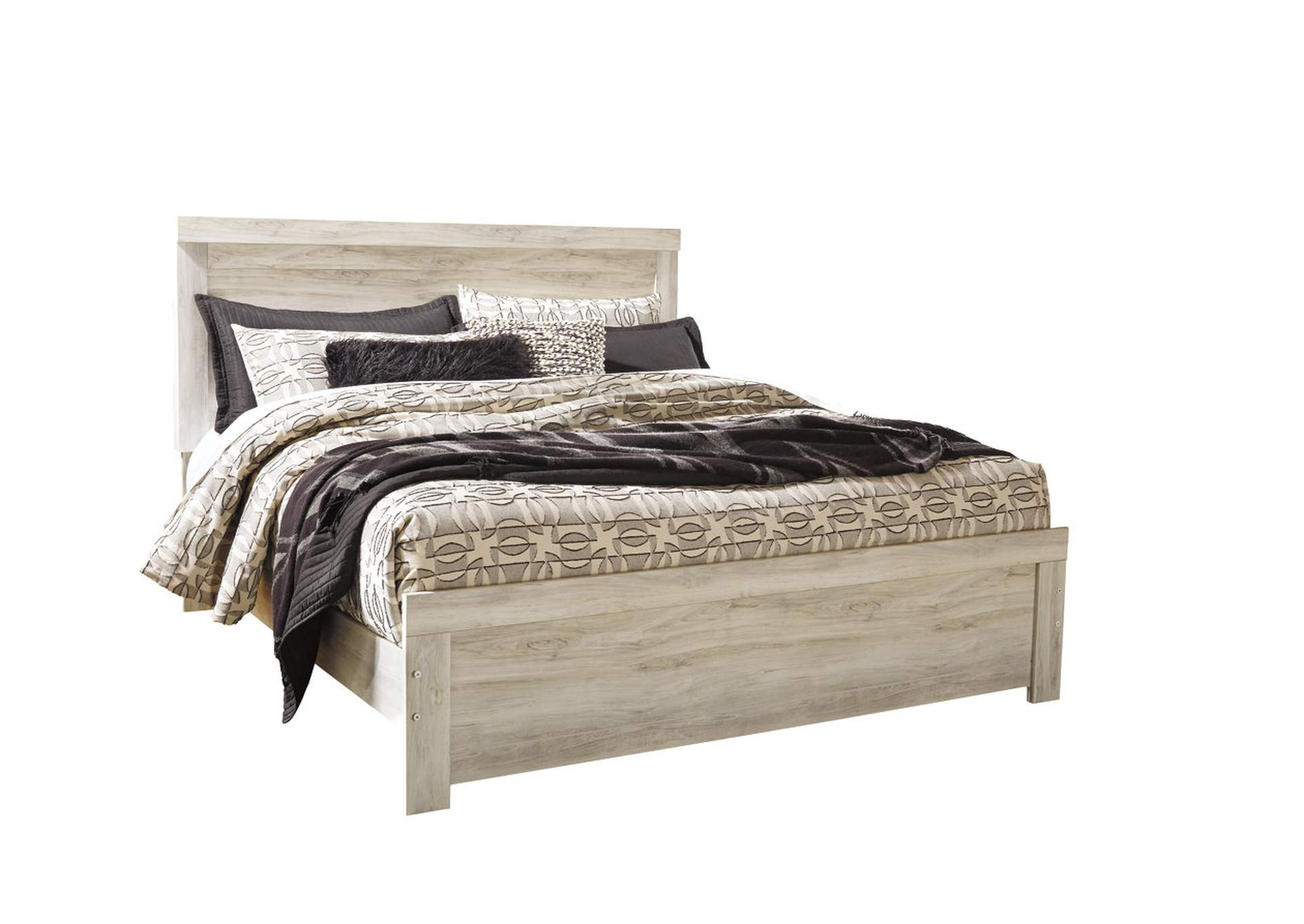 Bellaby Whitewash King Panel Bed,Signature Design By Ashley