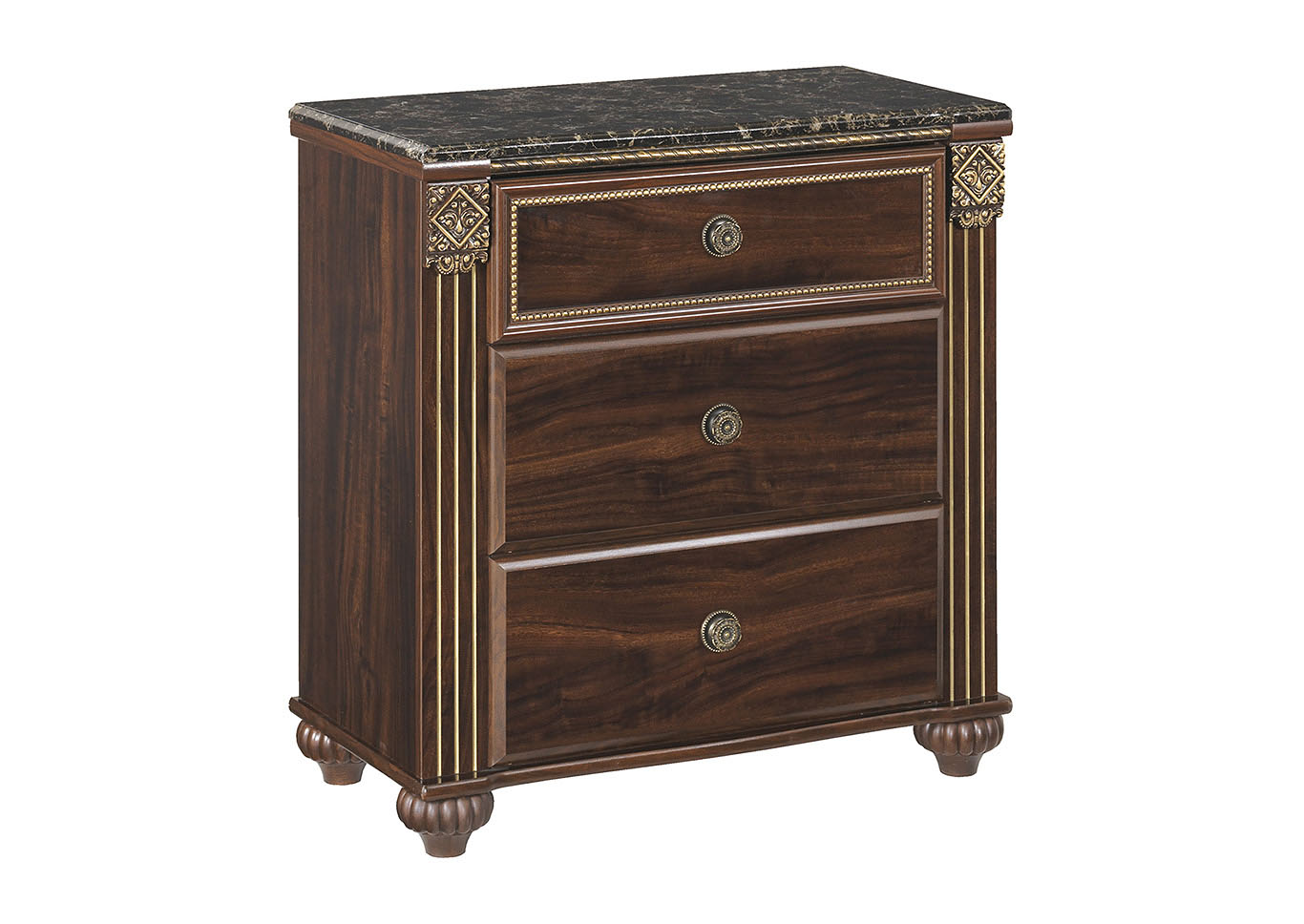 Gabriela Dark Brown Nightstand,Signature Design By Ashley