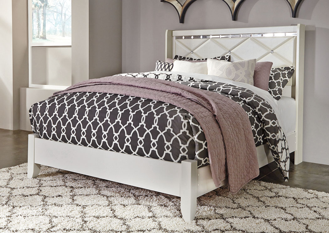 Dreamur Champagne Queen Panel Bed,Signature Design By Ashley