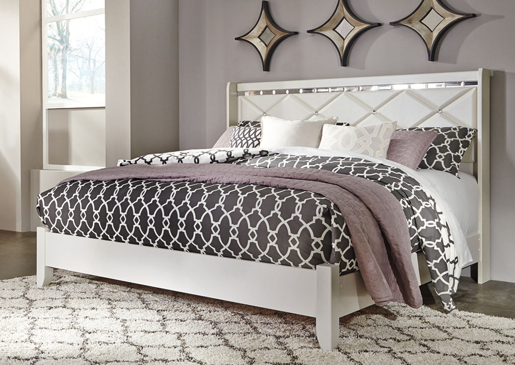 Dreamur Champagne King Panel Bed,Signature Design By Ashley