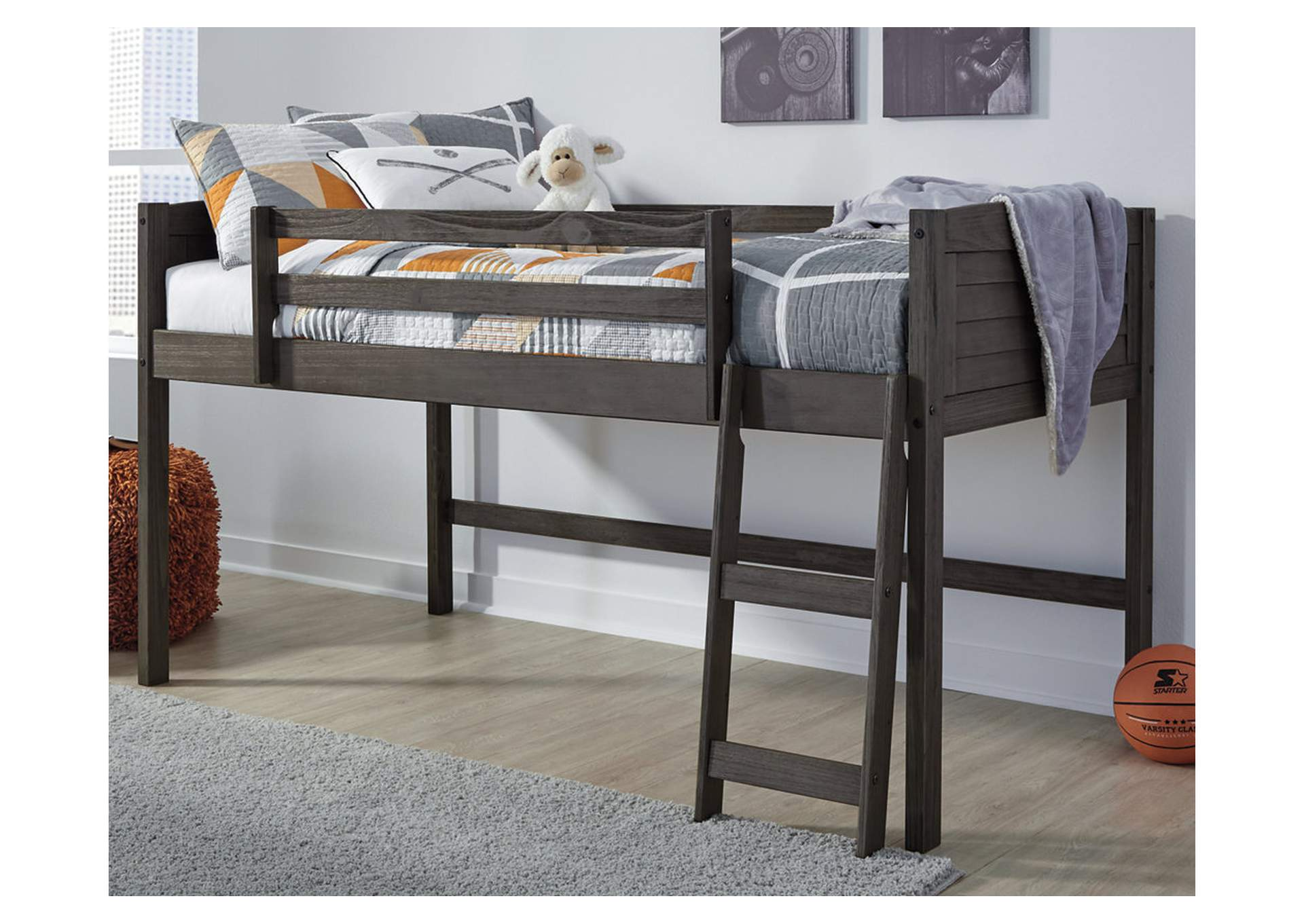 Caitbrook Gray Twin Loft Bed Frame,Signature Design By Ashley