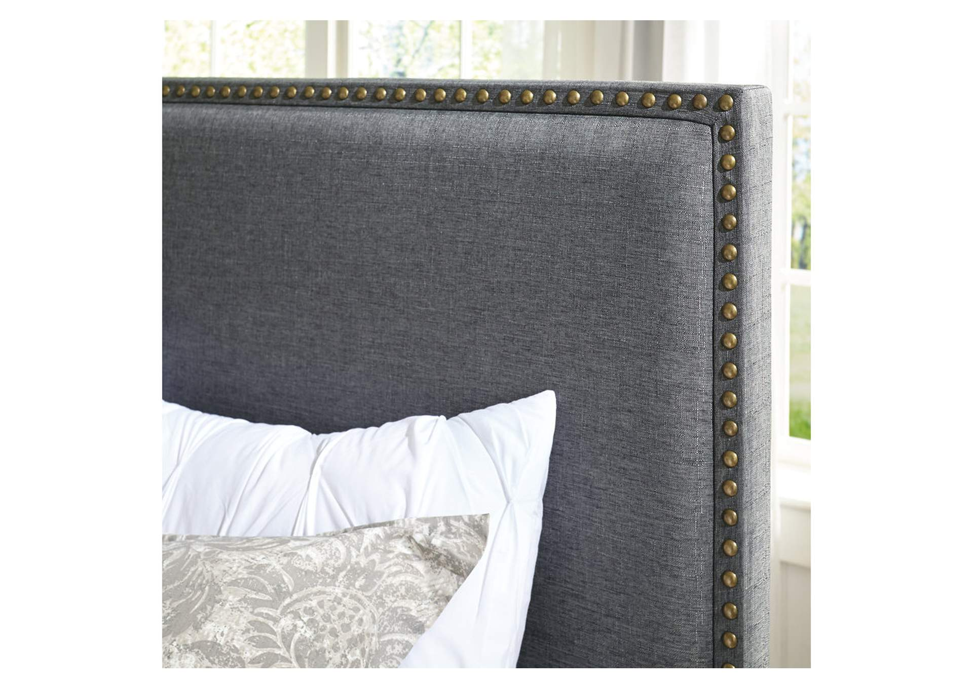Chasebrook Gray Queen/Full Upholstered Headboard,Signature Design By Ashley