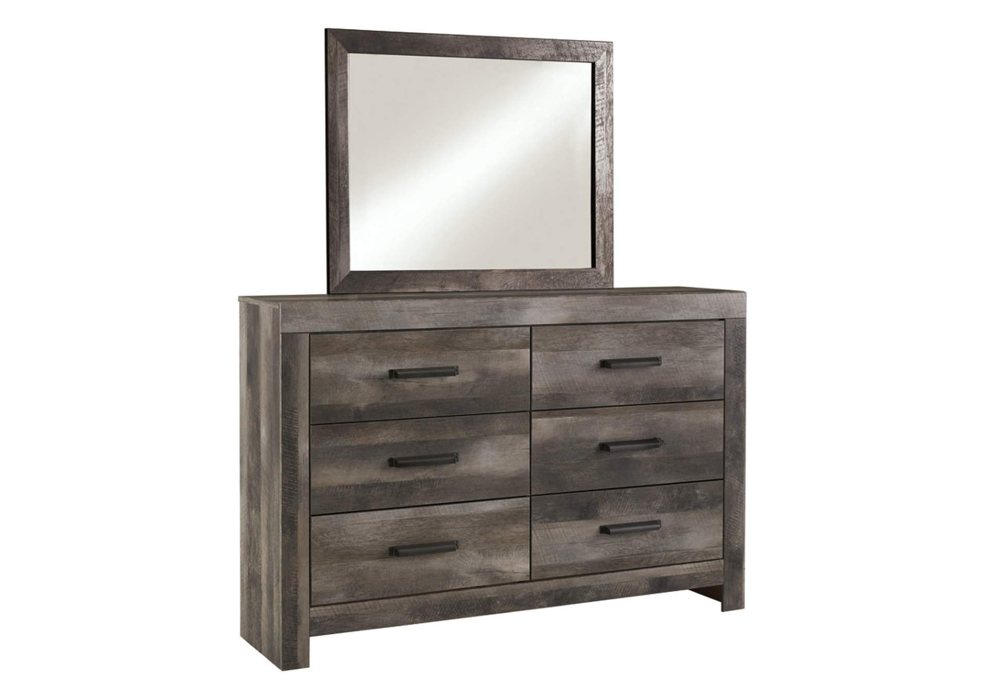 Wynnlow Gray Rustic Dresser and Mirror,Signature Design By Ashley