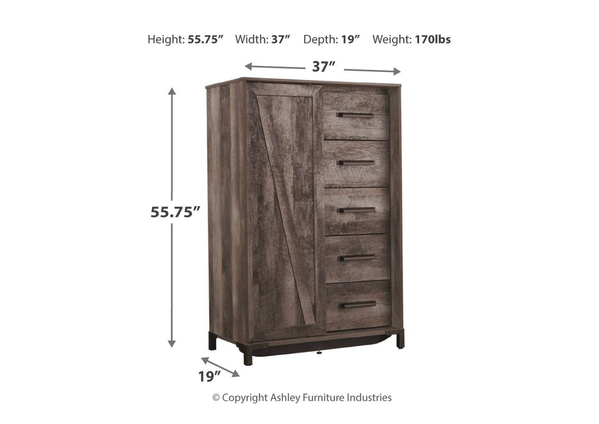 Wynnlow Gray Dressing Chest,Signature Design By Ashley