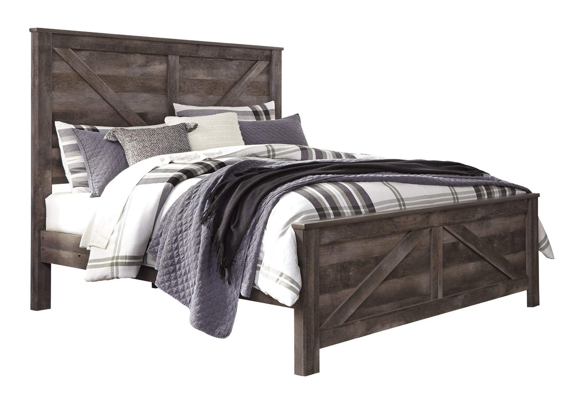 Wynnlow Gray Queen Crossbuck Panel Bed,Signature Design By Ashley