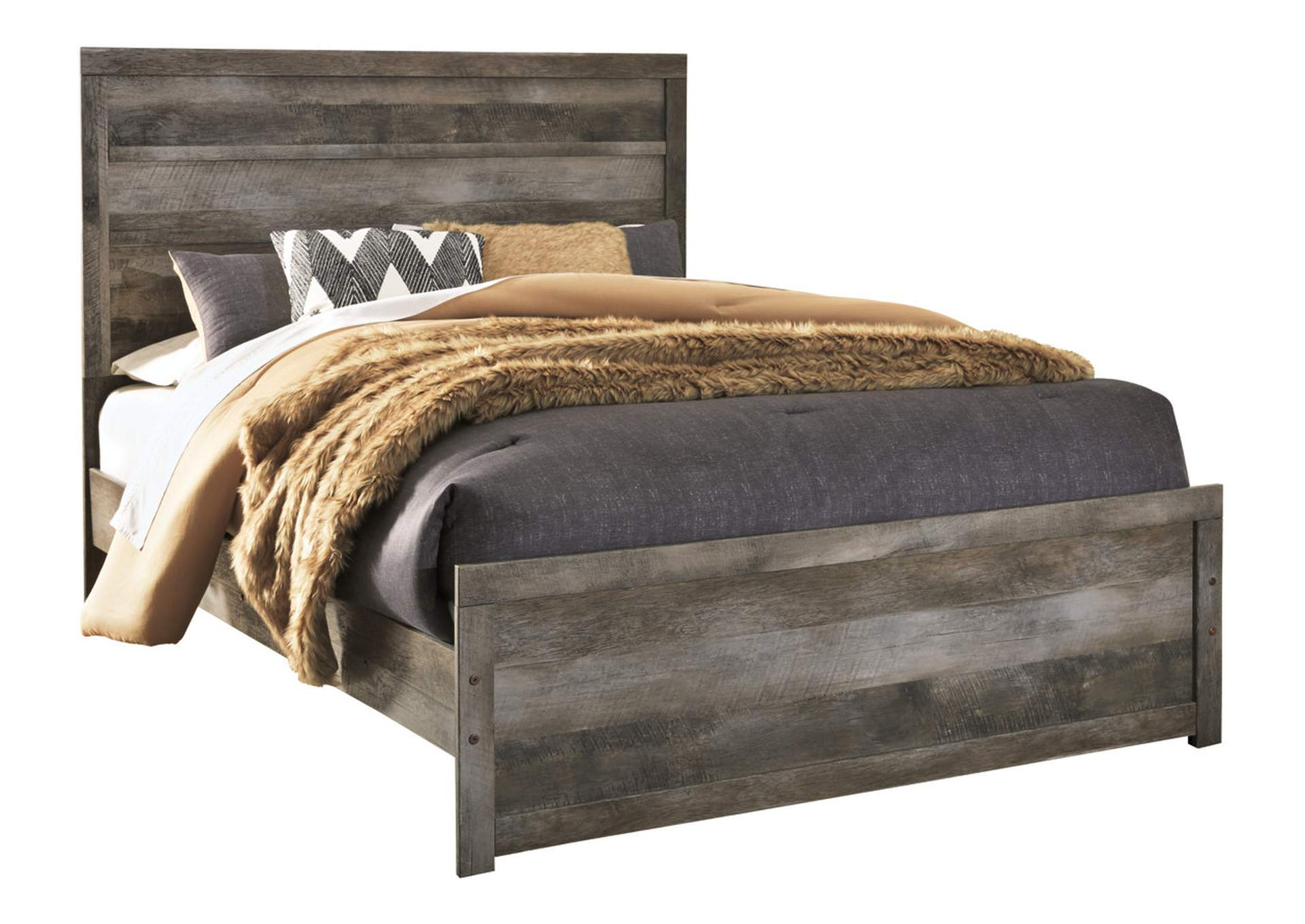 Wynnlow Gray Rustic Queen Panel Bed,Signature Design By Ashley