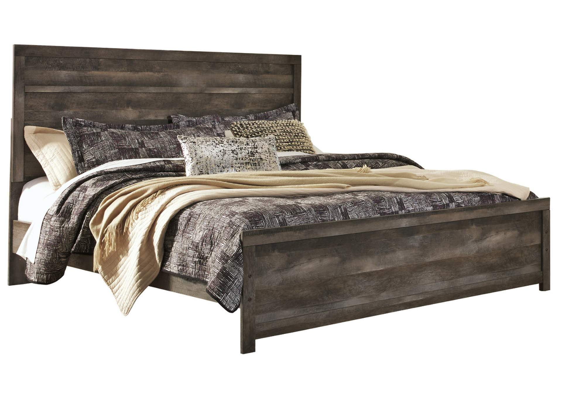 Wynnlow Gray Rustic King Panel Bed,Signature Design By Ashley